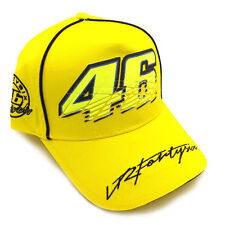 Valentino Rossi The Doctor GP Motorcycle Baseball Hat Peaked Cap Hat Yellow