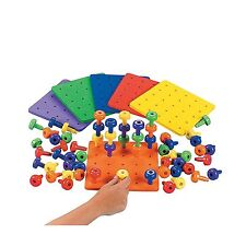 Stack It Peg Game With Board Occupational Therapy Autism Fine M... Free Shipping