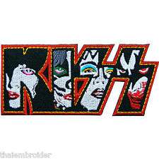 Kiss Music Iron on Patch Sew Embroidered Hard Rock Rocker Vest Jacket Cap #S009