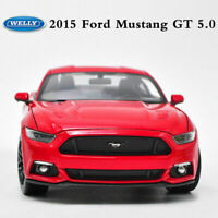 Welly FX Series 1:24 Scale Die-cast Metal Model Red 2015 Ford Mustang GT 5.0 Car