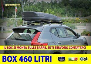 Box Baule Portatutto Lancia Musa Delta tetto auto 460 l nero universale kit set
