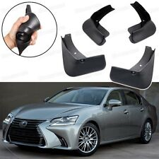 Car Mud Flaps Splash Guard Fender Mudguard Black for Lexus GS 200t 2016-2017
