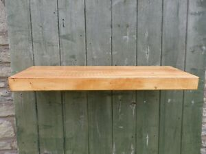 """60mm  RUSTIC FLOATING  200MM X 50MM( 8"""" X 2"""" WALL SHELF HAND MADE IN WALES"""
