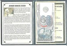 Yugoslavian Dictator Josip Broz Tito Coin & Banknote, Album Story & Certificate