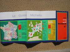 GUIDE ROUGE VERTE MICHELIN ITALIA 1972 BROCHURE PUBLICITE PROMOTION