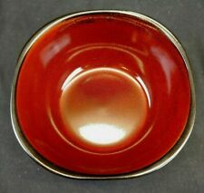 New listing Set of Two Gibson elite Soho Lounge Red and Black Color 6 inch Soft Square Bowls