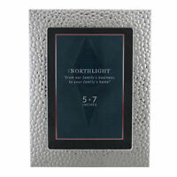 """Northlight Silver Textured Picture Frame- 5"""" x 7"""""""