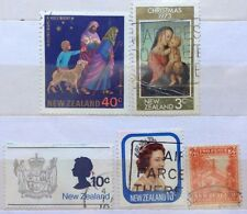New Zealand Used Stamps - 5 pcs Assorted Stamps