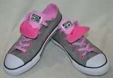 Converse Girl's CT Double-Tongue OX Grey/Pink/White Sneakers-Sizes 3&4 (654229F)