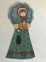 "Victorian Courtship Doll - 1 - Iron-On Fabric Appliques.. 6 3/4"" Tall.  (L)"