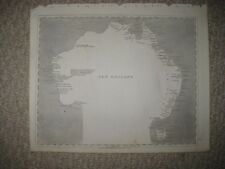 ANTIQUE 1805 NEW HOLLAND AUSTRALIA ARROWSMITH AND LEWIS MUSHROOM CLOUD MAP RARE