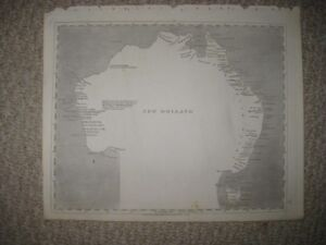 ANTIQUE 1805 NEW HOLLAND AUSTRALIA ARROWSMITH AND LEWIS MUSHROOM CLOUD MAP RARE