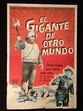 GIANT FROM THE UNKNOWN * HORROR * ED KEMMER * ARGENTINE 1sh MOVIE POSTER 1958