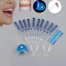 Teeth Whitening LED White Light Oral Gel Dental Bleaching Kit 10 Tubes + 2 Trays