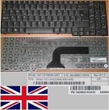 QWERTY KEYBOARD UK ASUS M70 MP-03756GB-5287 04GNED1KUK00 DFE 9J.N0B82.10U Black