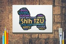More details for shih tzu word art canvas a4 a3 a2 a1 mothers day gift personalised option