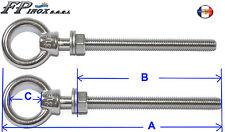 Anneaux tige filetée inox A4 ( Lot de 2 ) M6mm Longueur 80mm inox 316 - A4