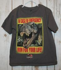 Jurassic Park Licensed Tshirt T-Rex In case of emergency run for your life S 5/6