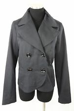 Grace & Cello Black Organic Cotton Double Breasted Jacket 6 Medium $249 C27