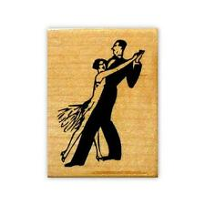 DANCERS mounted rubber stamp, dancing couple, people, dance #2