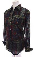 Lauren Ralph Lauren Womens Button Down Up Shirt Gauze Cotton Floral Sz Small