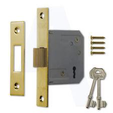 """ERA 572-31 3 Lever Deadlock Brass Effect 76mm (3"""") Mortice Door Lock"""