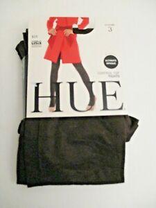 Hue Ultimate opaque control top tights 1 pair ~Size 3~ espresso 90 Denier USA