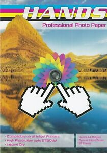 A4 or A3 Canvas Photo Papers Various Weight available in 220gsm & 260gsm