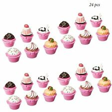 24pc Scented Novelty Cupcake Lip Gloss Lip Balm Girls Birthday Party Favors LOT