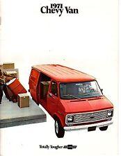 1971 Chevrolet Van sales catalog from the Dealer's Shelves - Rare