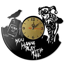 "NEW  Vinyl Record Wall Clock ""Harley Quinn #3"", modern decorative art ~ 12"""