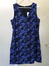 BANANA REPUBLIC Floral Navy/Blue Sleeveless Dress Size 14 $128.00