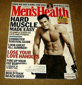 MEN'S HEALTH MAGAZINE ~~ June 2002 ~ 6/02 ~ Hard Muscle Made Easy ~~
