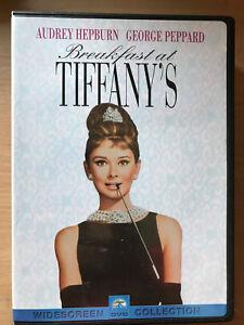 Breakfast at Tiffany's DVD 1961 Romantic Classic with Audrey Hepburn Region 1