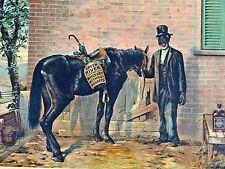Black Americana Advertising Framed Sign Green River Whiskey Man Cave Bar 1935