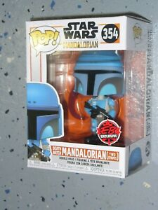 Star Wars Funko Pop Vinyl - EB Ex. - Death Watch Mandalorian Two Stripes # 354