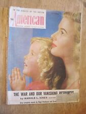 1945 The American Magazine December issue Mother and Daughter on cover