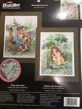 RARE Woodland Fairies Counted Cross Stitch KIT NIP Plaid Bucilla Open Package
