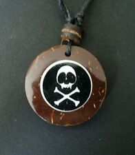 SKULL AND CROSS BONE NECKLACE PIRATE FANCY DRESS PARTY