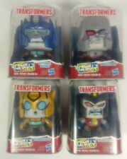 Lot of 4 Mighty Muggs Transformers Optimus, Megatron, Bumblebee & Starscream 4""