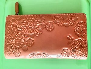 Mabel & Lou Red Genuine Leather Embossed Purse/Wallet