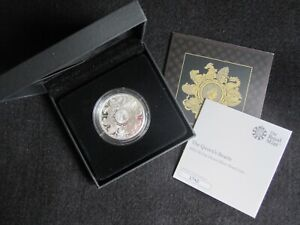2021 Royal Mint Queens Beasts Completer £2 Silver Proof Coin Boxed COA No 1742