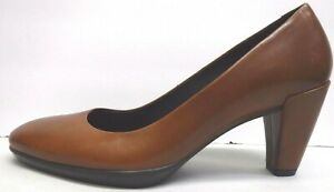 Ecco Size EUR 40 US 9 9.5 Brown Leather Pumps New Womens Shoes