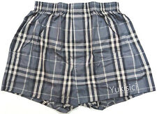 Burberry Licensed in Japan Grey & Black Small Tartan Underwear Boxer Set-l Size