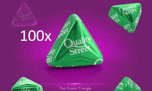 100 GREEN TRIANGLES QUALITY STREET DATED 08/22 CHOCOLATE CHOOSE YOUR OWN