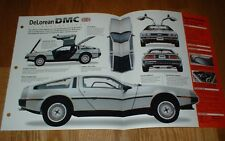 ★★1981 DELOREAN DMC ORIGINAL IMP BROCHURE SPECS INFO POSTER 81 82 DE LOREAN 12★★