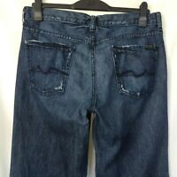 7 For All Mankind Mens Relaxed Jeans Size 34 Button Fly Made In USA -P02