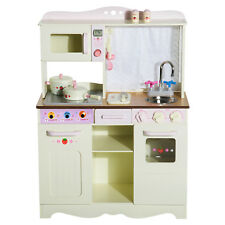 HOMCOM Cucina Giocattolo per Bambini con Accessori 71 × 30 × 97.5cm Legno