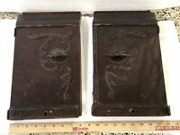 Antique Singer Sewing Machine Drawing Room Cabinet BOTTOM FRONT DOORS w/HINGES