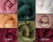 Desert Rose Palette Wool Roving Fiber 2ozs/56 grams Needle Felting Spinning Soap